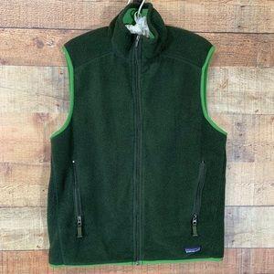 Patagonia Olive Green Fleece Vest. Men's Medium